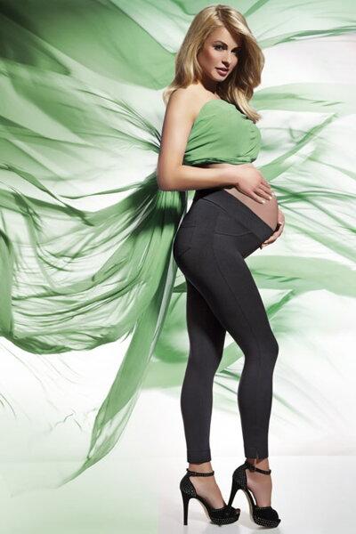 03460b43c Bas Bleu Laura PZ čierne tehotenské legíny 200 DEN