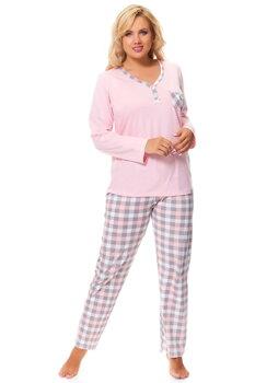 2b14064595d9 Ružové dámske bavlnené pyžamo Dn-nightwear PB.9544