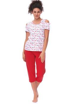 86b0a7fe6711 Bavlnené dámske pyžamo s krátkym rukávom Dn-nightwear PM.9617