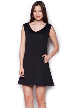 182e7325503 Figl 349 klasické dámske šaty bez rukávov