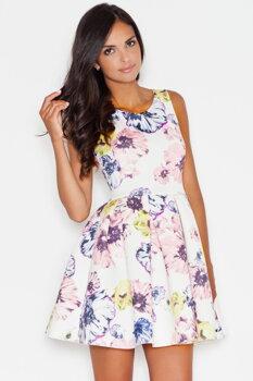 Figl 386 krásne luxusné kvetinové šaty SK d69f98980ee