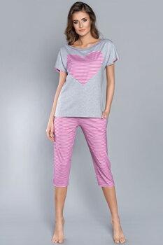 11d33e430f76 Bavlnené dámske pyžamo s krátkym rukávom + 3 4 nohavice Italian Fashion  Dekada