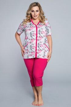 005a08177e8c Bavlnené dámske pyžamo pre moletky Italian Fashion Róża