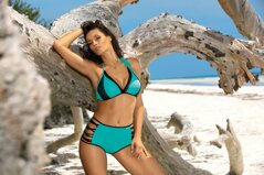 455569a38 Mätové dvojdielne dámske plavky s vysokým pásom Marko Verona Nirvana M-551 ( 2)
