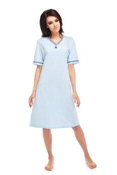 19a2e3695555 Nočná košeľa s krátkym rukávom Anna 216 blankytne modrá