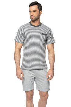 341c7de4191d Pásikavé pánske bavlnené pyžamo Rossli SAM-PY-154