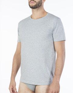 2b8071a5ee83 Šedé pánske bavlnené tričko Pierre Cardin Barcellona