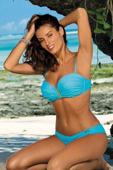 Dámske dvojdielne push-up plavky Amanda Baia M-386 (5) blankytne modré 1032116172