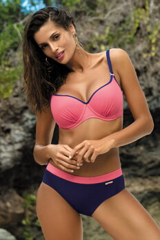 6598e7bc54e Dámske dvojdielne plavky Doreen Mirtillo-Rosella M-435 (5) ružovo-tmavomodré