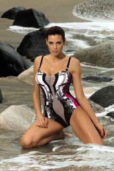 89dea8507 Jednodielne plavky Miriam Nero-Venere M-329 čierno-béžovo-červené (167