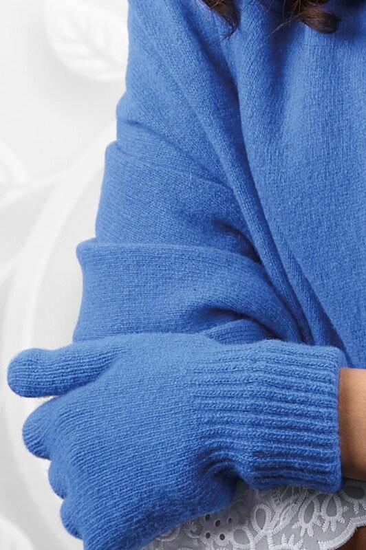 Nebesky modré dámske rukavice na zimu Kamea 01 98dd9b5cfb