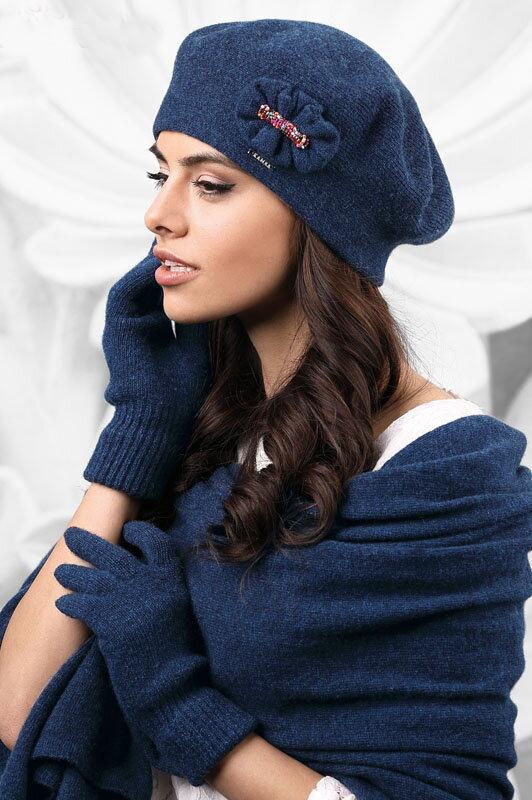Svetlo tmavomodré dámske rukavice na zimu Kamea 01 5559e6131c