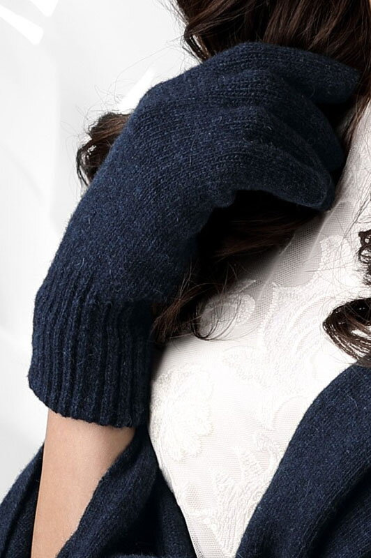 Tmavomodré dámske rukavice na zimu Kamea 01 9aae37bd9c