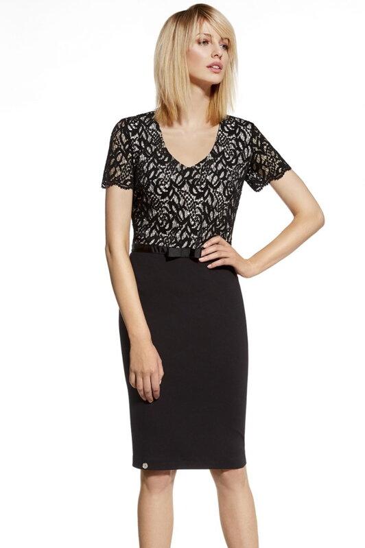 Ennywear 230023 elegantné dámske čierne šaty s čipkou e58ec5f1959