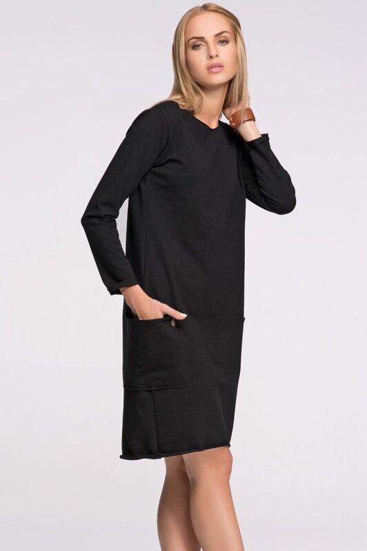 415ef6691 Makadamia M267 dámske čierne šaty