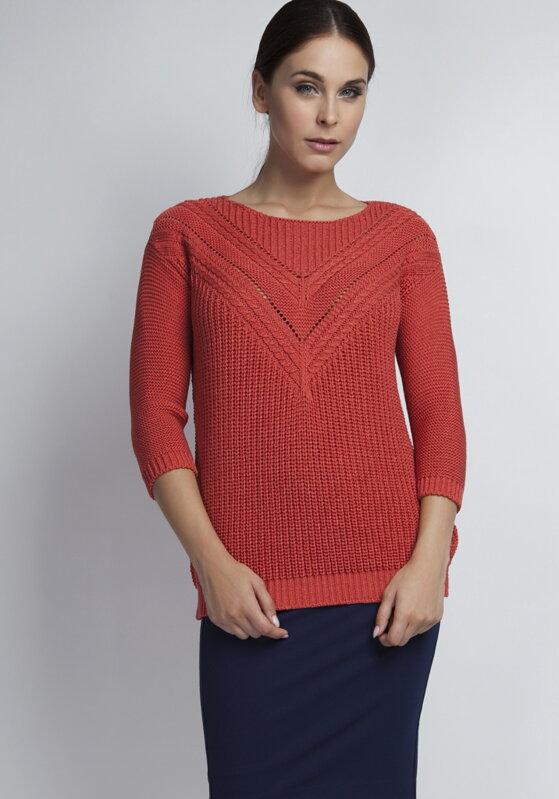 e3ec37a05bb2 Elegantný dámsky sveter Penny SWE041 koralový