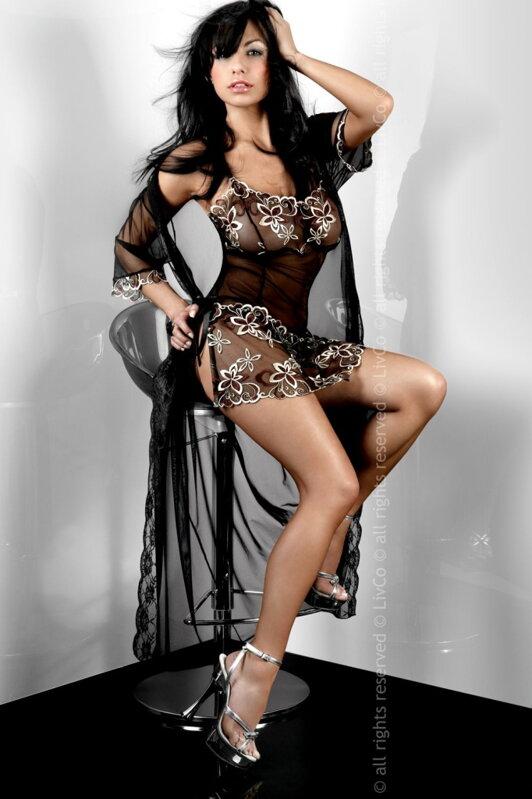 2ea11e8af Elegantný priesvitný sexy župan Livia Corsetti Hera