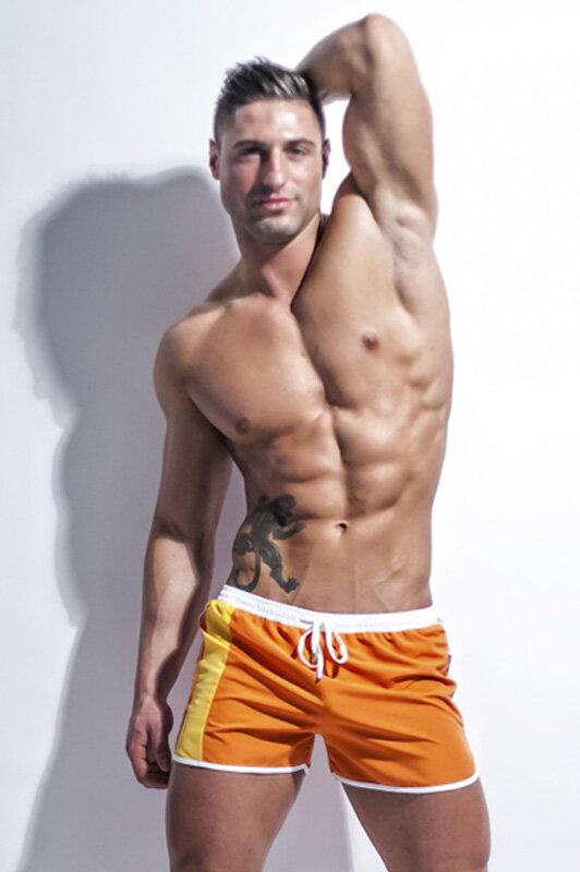 e782349a1 Oranžové pánske plavky šortky Alpha Male Curso