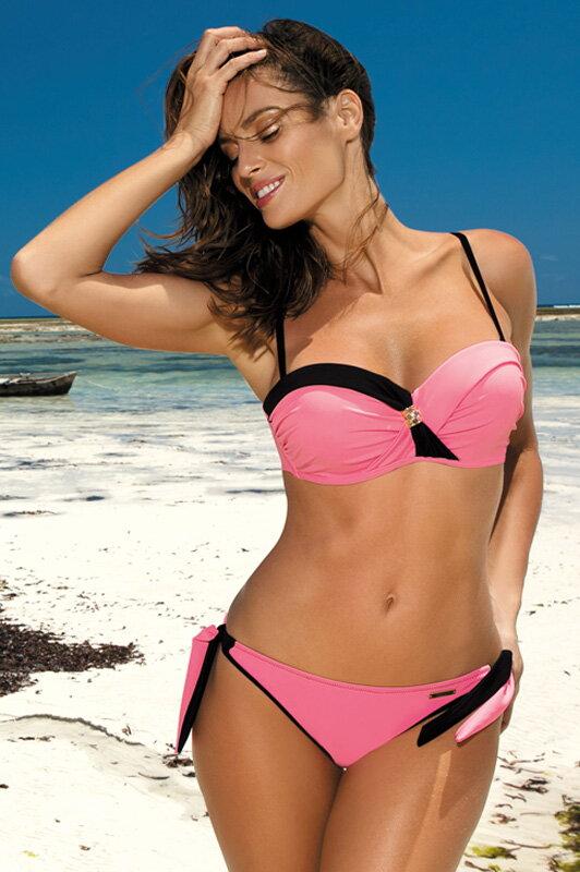 797432832 Luxusné dámske plavky Jessica Dafne M-400 (6) ružovo-čierne