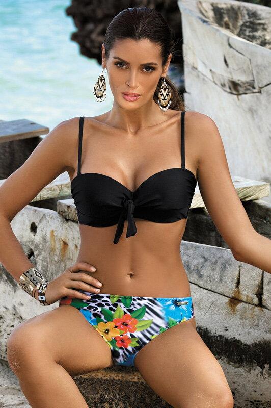 Dámske dvojdielne kvetované plavky Pamela Nero M-421 (5) čierne 33f9592467