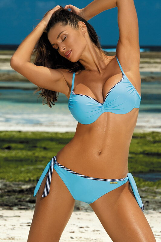 4a77ac0ed9 Dámske dvojdielne plavky s push-up Penelope Bright Cyjan M-437 (5)  blankytne modré
