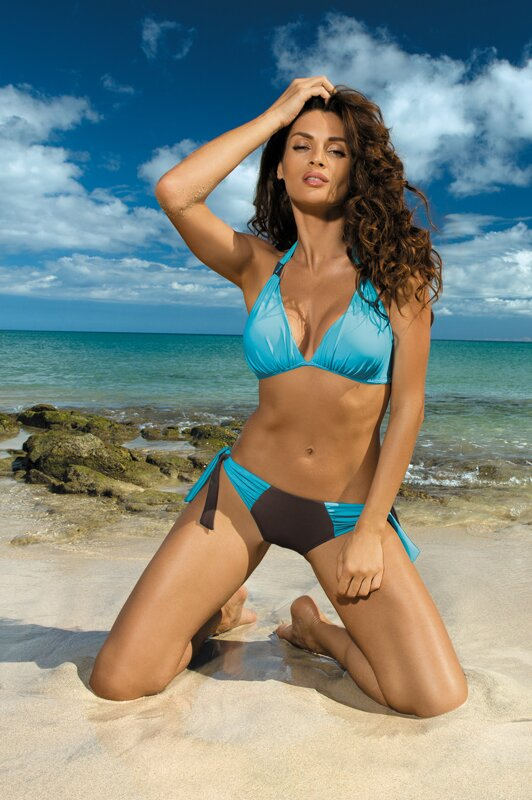 aa1b98525 Plavky pre väčšie prsia Roxie Seppia-Martinica M-326 nebeskymodro-hnedé  (105)