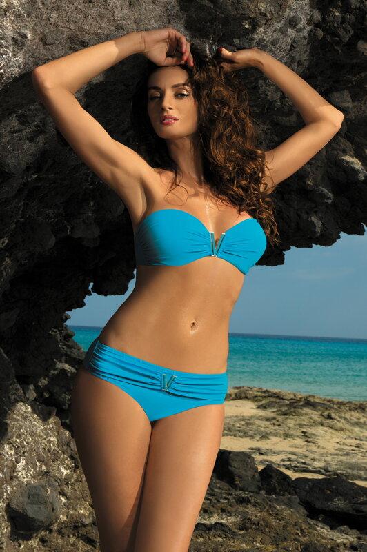 9c3afb4ba Luxusné dvojdielne plavky Shanon Turcheze M-323 tyrkysové (38)